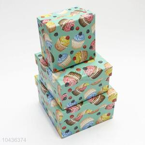 Fancy Design 3pcs Luxury Gift Box Cardboard Packaging