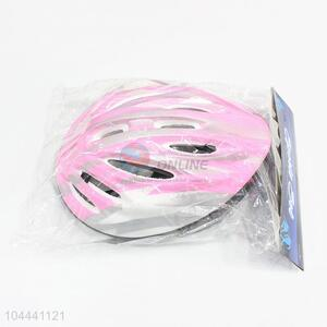 New Style Plastic Pink Kids Bike Riding Helmet