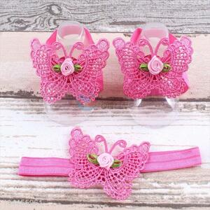 Wholesale New Fashion Baby Cotton Foot Headband Set