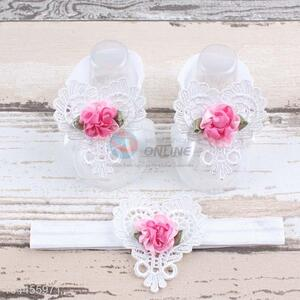 Wholesale China Supply Cotton Foot Headband Set For Baby