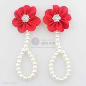 Low Price Trendy Chiffon Flower Pearl Baby Foot Ornaments