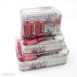 Hot Sale Multi-use Rectangle Tin <em>Storage</em> Cases Set