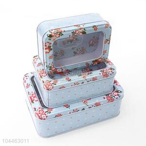 Popular Multi-use Rectangle Tin <em>Storage</em> Cases Set for Sale