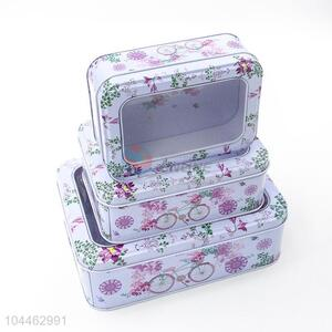 Cheap Price Multi-use Rectangle Tin <em>Storage</em> Cases Set
