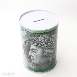 Promotional Gift Round Coin Can Tin Piggy Bank
