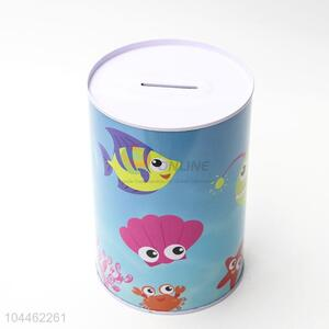 Factory Direct Printed Tin Can Coin Bank