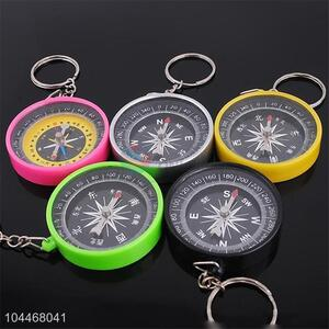 Compass Design Alloy Key Chain Portable Key Ring