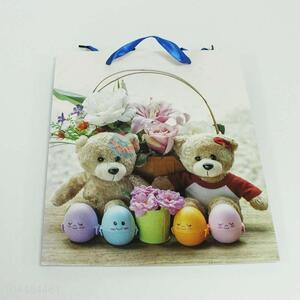 Pretty Cute Paper Gift Bag with Bears Pattern