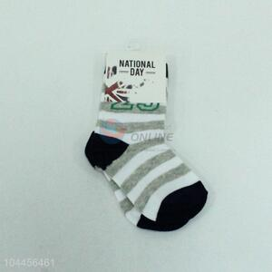 New Design Stripe Pattern Soft Flat Socks For Children
