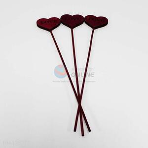 Promotional Gift 3PC Wooden Craft with Heart Head
