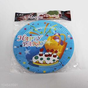 10pcs cute birthday use plastic plates