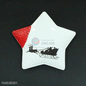 Factory Hot Sell Star Shaped Ceramic Decorative Plate for Sale
