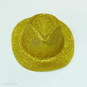 Wholesale cheap cowboy hat with gold powder
