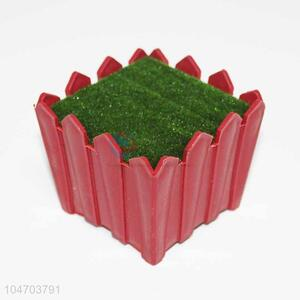 Plastic insert fence railings decorative green Christmas fence