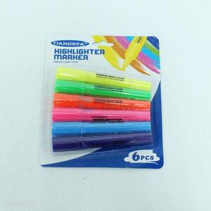 Colorful cheap 6pcs highlighters