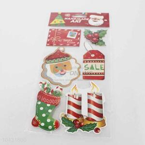 Six Designs Cartoon Sticker for Xmas Decoration
