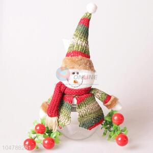 Direct factory Chrismtas snowman decorative article candy jar