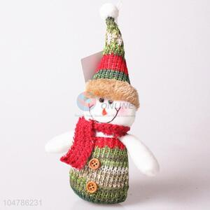 Best selling knitted Chrismtas snowman decorative article
