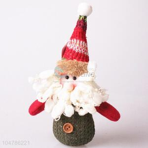 Low price knitted Father Chrismtas decorative article
