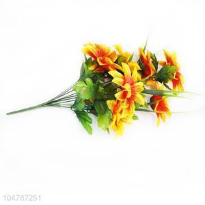 Low Price Yellow Color A Bunch of Artificial Flower Real Touch Fake Flower