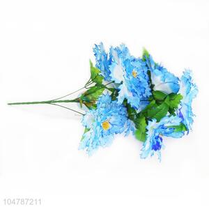Blue Color Big A Bunch of Artificial Fake Flower Wedding Flower