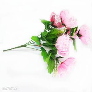 A Bunch of Pink Color Artificial Rose for Wedding Party