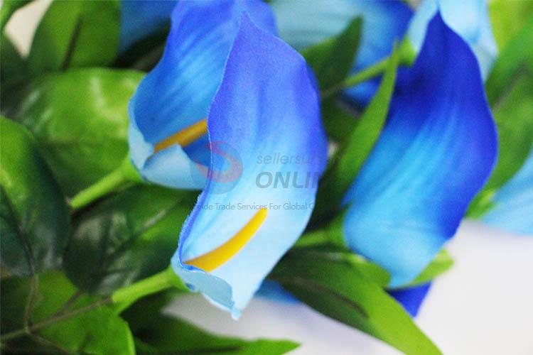 Artificial Blue Flower Artificial Cloth Flowers Party Wedding Decoration