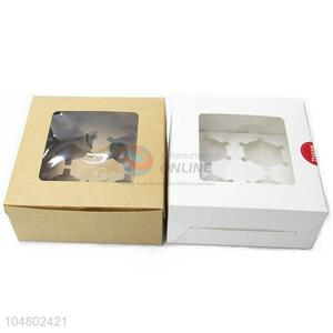 Simple Cute Plastic Window for Candy Chocolate Paper Carton Gift Box