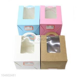 Wholesale Simple Four Color Window Box Wedding Gift Box Birthday Cookies Box