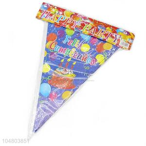 Promotional Gift Cute Party Christmas Decorations Kids Boy Girl Paper  Flags Pennant