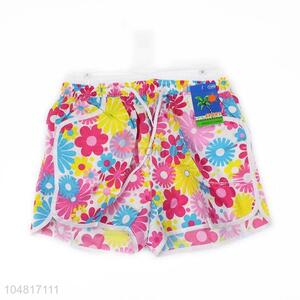 Superior Quality Beautiful Flower Printing Beach Shorts For Girl Gifts