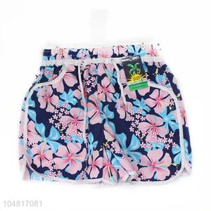 Top Quanlity Floral Printed Girl Casual Shorts Print Short Summer Beach