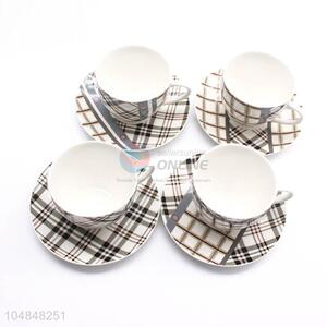Wholesale Popular 6pcs Ceramic Cup and Dish Set for Home Use