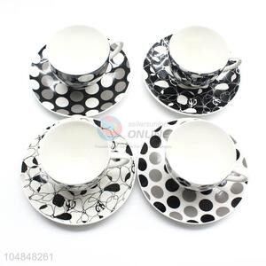 Promotional Wholesale 6pcs Ceramic Cup and Dish Set for Home Use