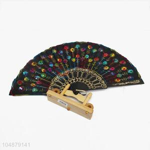 Colorful Sequins Design Summer Portable Hand Fan