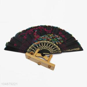 New Fashion Phoenix Embroidery Pattern Folding Hand Fan