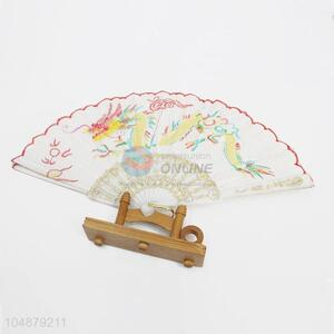 Fashion Dragon Embroidery Pattern Folding Hand Fan