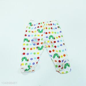 Fashion style colorful dot pattern trousers for kids