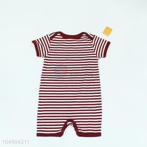 Factory price stripe knitting children dress,red and white