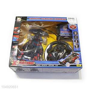 Wholesale low price remote control car 4 channels vehiles with steering wheel, lights