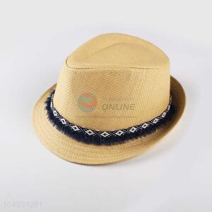 Cheap wholesale straw hat panama summer beach hat for women
