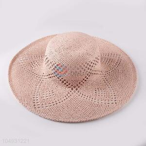 Wholesale new style straw hat panama summer beach hat for women