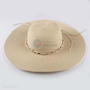 China OEM straw hat panama summer beach hat for women