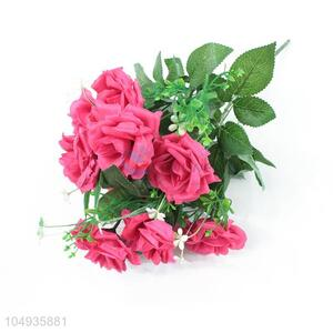 Hot Selling 12 Heads China Artificial Rose Flowers Wall Wedding Decor