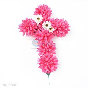 Recent Design 7 Heads Wedding Decorative Simulation Artificial Flowers