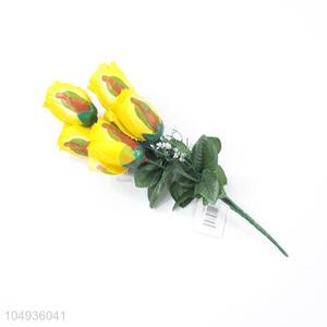New Style 6 Heads Wedding Decorative Simulation Artificial Flowers