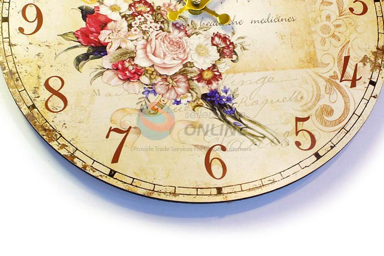 Manufacturer directly supply round printed wall clock for home decor