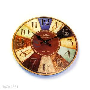 Wholesale low price round printed MDF wall clock