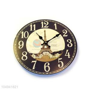 Competitive price round printed wall clock for home decor