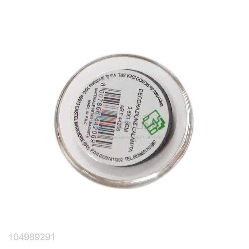 Best selling round epoxy resin fridge/refrigerator magnet